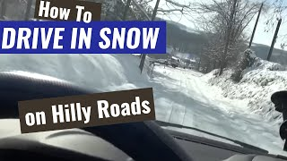 How to Drive in Snow on Hilly Roads - Traction Control Does Not Always Help