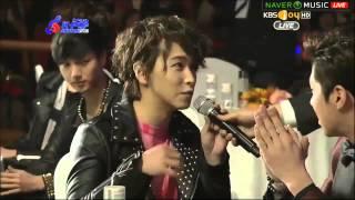 130213 SUPER JUNIOR + YUNHO + CNBLUE - Interview Cut @ Gaon Kpop Chart Award