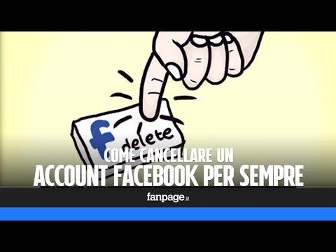 Come cancellare un profilo Facebook per sempre