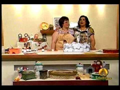 DE ARTESANATO NA TV. PROGRAMA SABOR DE VIDA. TV APARECIDA. 1ª PARTE