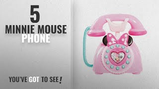 Top 10 Minnie Mouse Phone [2018]: Just Play Girls Minnie Happy Helpers Rotary Phone Playset