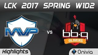 MVP vs BBQ Highlights Game 2 LCK Spring 2017 W1D2 MVP vs BBQ Olivers