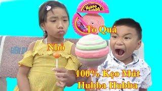 Ăn kẹo Mút Hubba Bubba Khổng Lồ❤ Baby channel❤