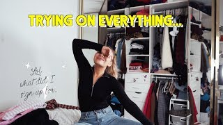 Trying on EVERYTHING in my closet... (I have too many clothes)