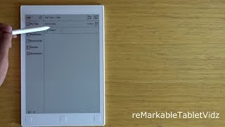 reMarkable tablet in depth review organize your files and folders.