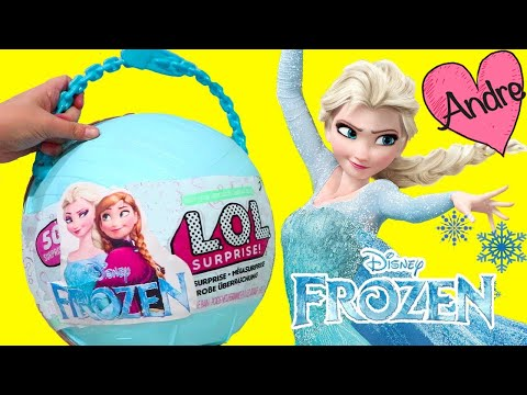 L.O.L. Big Surprise DIY de Frozen Elsa y Anna con sorpresas y muñecas lol - Juguetes con Andre