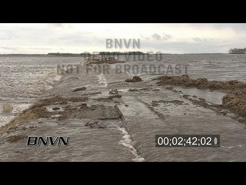 3/24/2009 Richland County North Dakota Flooding Stock Video - Part 2
