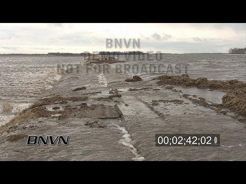 3/24/2009 Richland County North Dakota Flooding Stock Video - Part 2