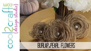 How To Make Looped Burlap Flowers + Bonus ...