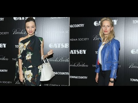 Miranda Kerr and Karolina Kurkova at The Great Gatsby Screening | Fashion Flash