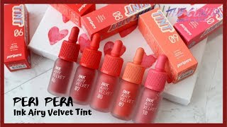 PERIPERA INK AIRY VELVET TINT VER 2 SWATCH & REVIEW| Son kem lì mùa hè