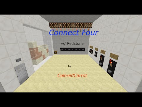 Minecraft — Connect Four [SIMPLE and COMPACT] [with Redstone] [w/ KolbCraft]