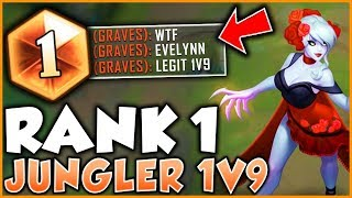 RANK 1 JUNGLER NA SHOWS HOW TO 1v9 WITH EVELYNN (SEASON 9) - League of Legends