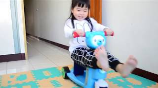 ╠ ☞♀╮Olivia╭♀☜ ╣4Y1M_美國 Creative Baby 國民版多功能滑板車/嚕嚕車_室內滑行篇