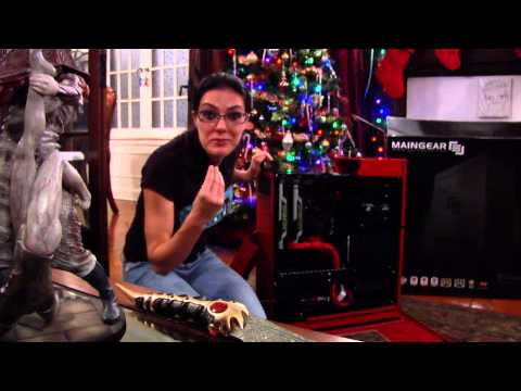 Adrianne Curry unboxes her new MainGear Shift Computer 12/22/14