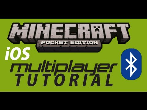 Bluetooth Multiplayer:PE Tutorial   Minecraft Pocket Edition [iOS]