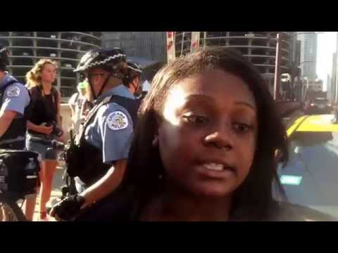 "Chicago Black Lives Matter Protest 7/11/16( Immortal Technique "" Richman's World"") Graphic Lyrics!"