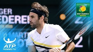 Federer hits unlikely winner before AMAZING rally  Indian Wells 2018 Final