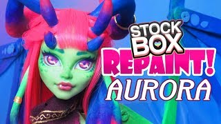 STOCK BOX Repaint! Aurora Dragon Custom Monster High Venus Doll