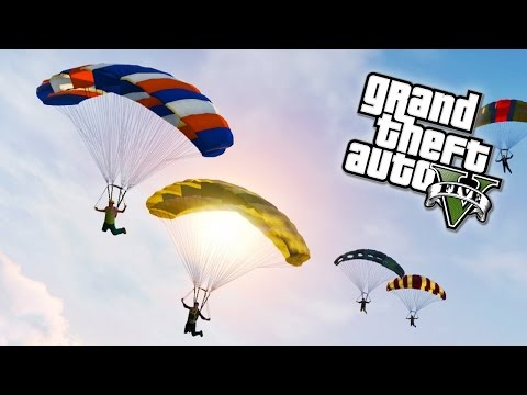 11 Man Skydive in Free Roam [GTA Online]