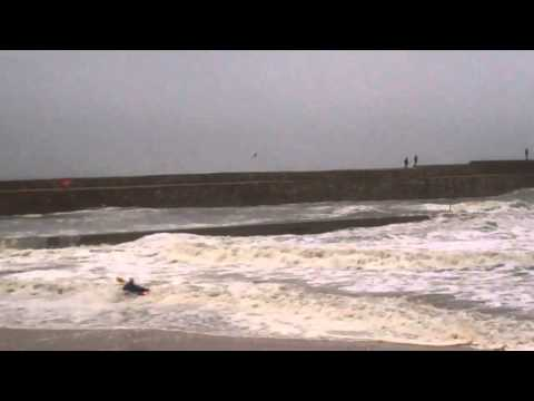 Tour Scotland video shot October 25th of Kayaks setting out into rough seas ...