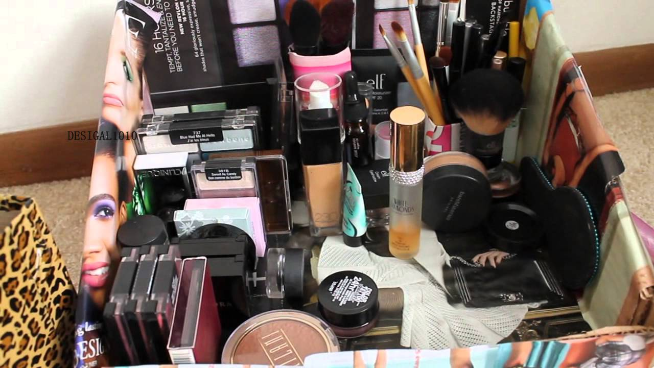 Diy Makeup Storage From Boxes Amp Cartons Youtube