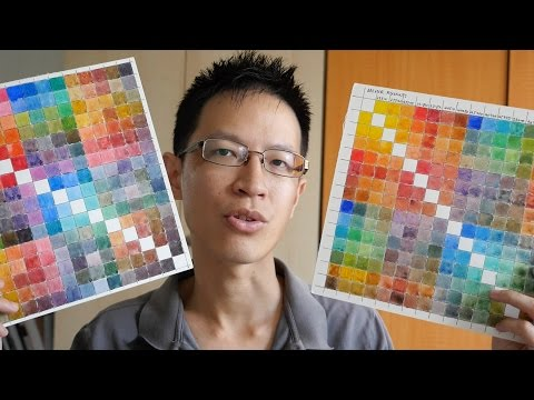 How to paint watercolor charts & chart comparisons