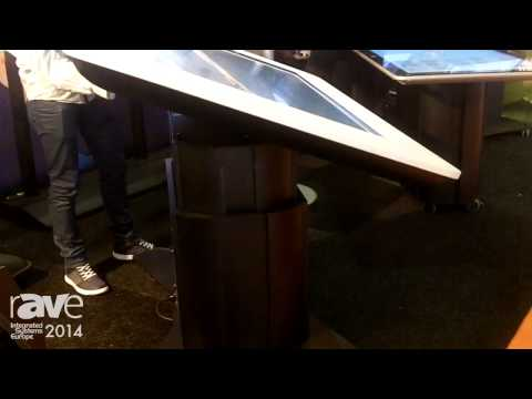 ISE 2014: PresTop Features Motorized Touch Table Lift, Giant Tablet Flex