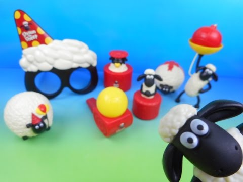 2015 Shaun The Sheep Set Of 8 Mcdonald's Happy Meal Kid's Toy's Video Review (import) video