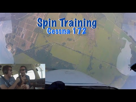 Cessna 172 spin recovery video from camera