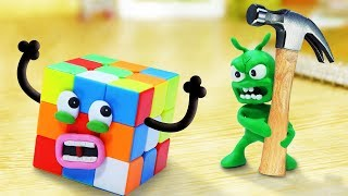 PEA PEA Plays With Rubik's Cube 🏆 Stop Motion Play Doh Cartoons