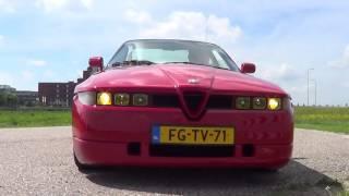 Alfa Romeo SZ start and ride