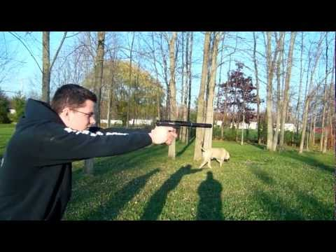 Suppressed Ruger 22 Pistol