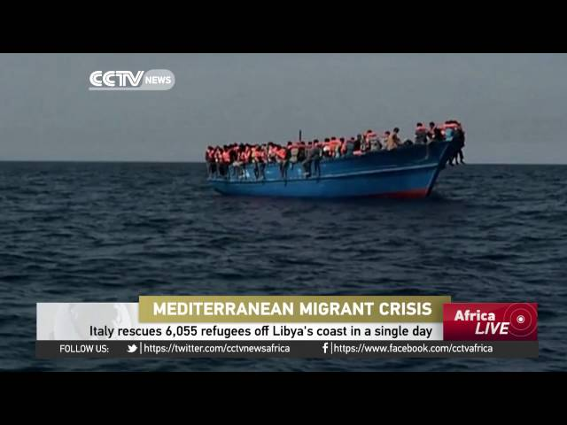 Italy rescues 6,055 refugees off Libya's coast in a single day