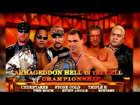 WWE Armageddon 2000 6 Man Hell In a Cell Match Highlights HD