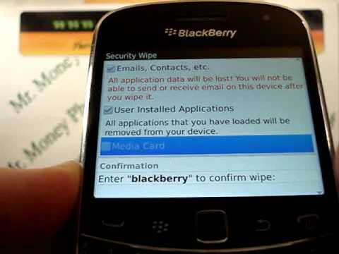 HARD RESET BlackBerry Bold 9900 Wipe Data Master Reset (RESTORE to FACTORY condition) Video
