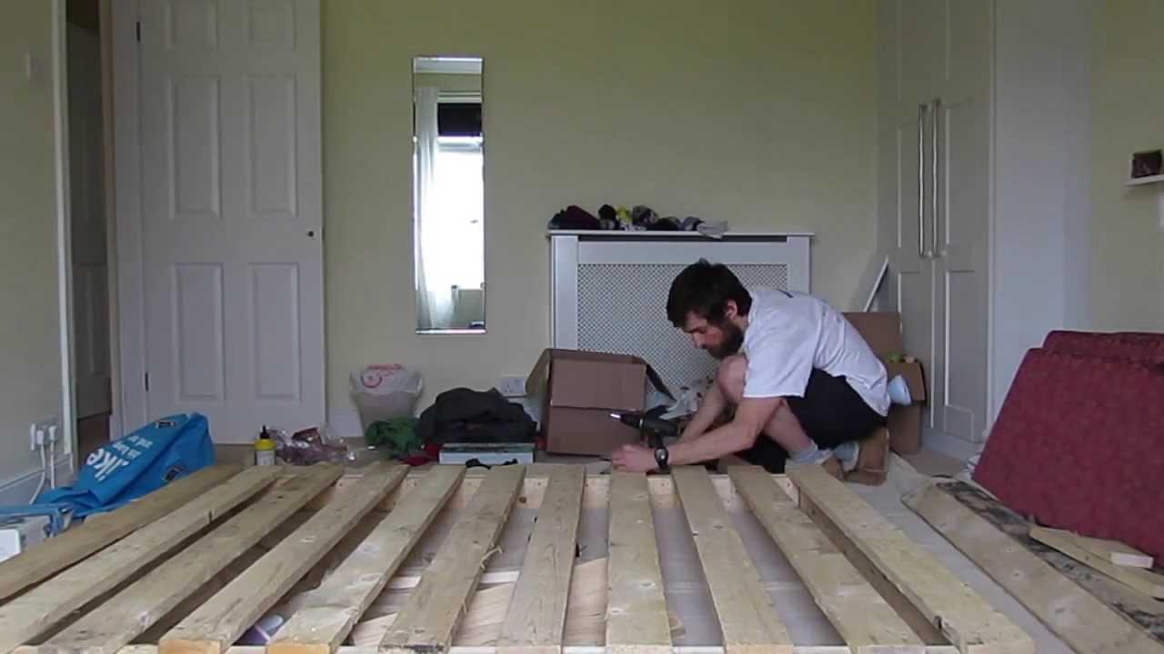 Pallet Bed Frame Timelapse - YouTube