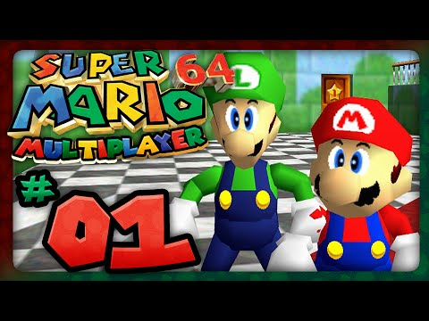 Super Mario 64: Multiplayer - Part 1: Who Let The Chomp Out! (2 Player)