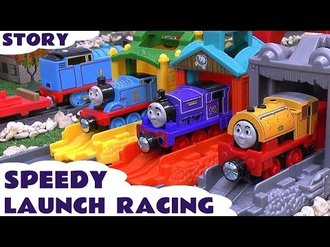 Thomas And Friends Speedy Launch Racing Play Doh Story Accident Cars Peppa Pig Frozen Funny Mario video