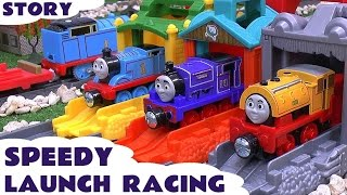 Thomas & Friends Speedy Launch Racing Play Doh Story Accident Cars Peppa Pig Frozen Funny Mario