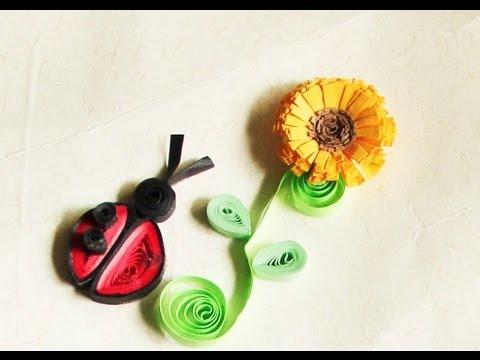 Tarjeteria en Filigrana (Quilling) Flores 1/2