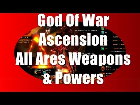GOD OF WAR ASCENSION ARES WEAPONS & POWERS HD