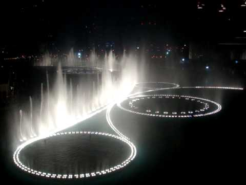 The Dubai Fountain - Time To Say Goodbye (high Quality) By Andrea Bocelli & Sarah Brightman video