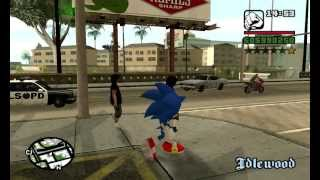 Sonic In Gta San Andreas (PC)