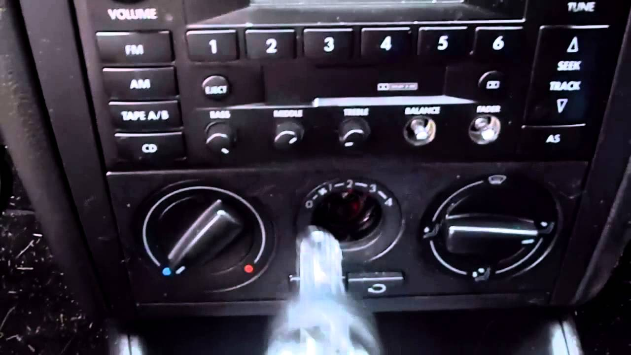 How To Replace A Volkswagen Jetta Climate Control Light