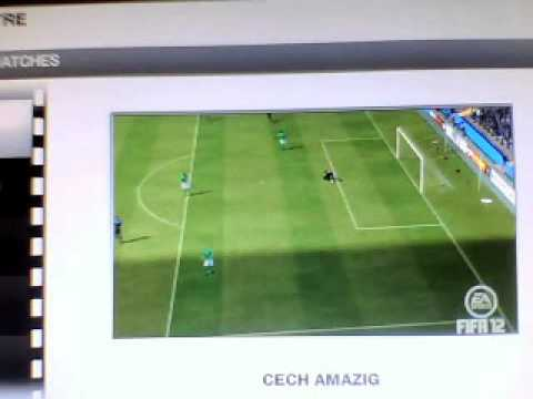 amazing goal from half way line petr cech fifa 12