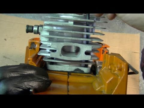 Engine Rebuild On Husqvarna 55  & 51 Chainsaw Part 2/3