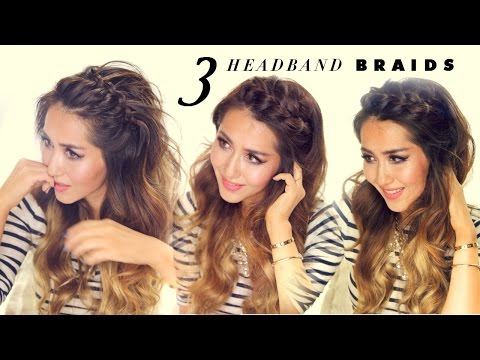★ 3 Easy-Peasy HEADBAND BRAIDS | Quick HAIRSTYLES for Short Long Medium Hair
