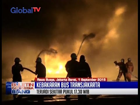 Kronologi Kebakaran Di Pool Trans Batavia, Belasan Bus Transjakarta Ludes Terbakar - BIS 02/09