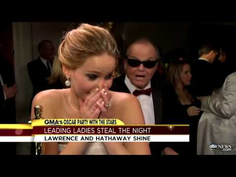 Jennifer Lawrence, Jack Nicholson Interruption Makes Waves After Oscars; Anne Hathaway on Big Win